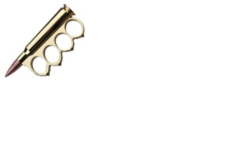 Gold Finish Rifle Bullet Knuckle (OH-PK-2446)